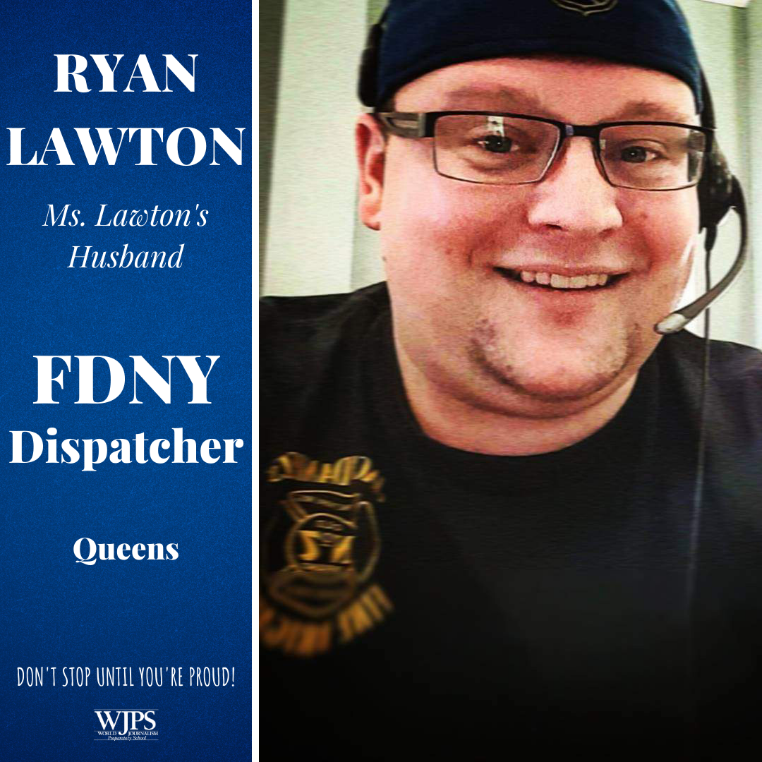 male in FDNY tee shirt with headset