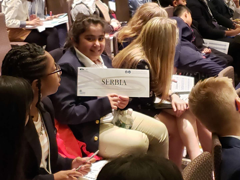 Model UN Conference representing Serbia