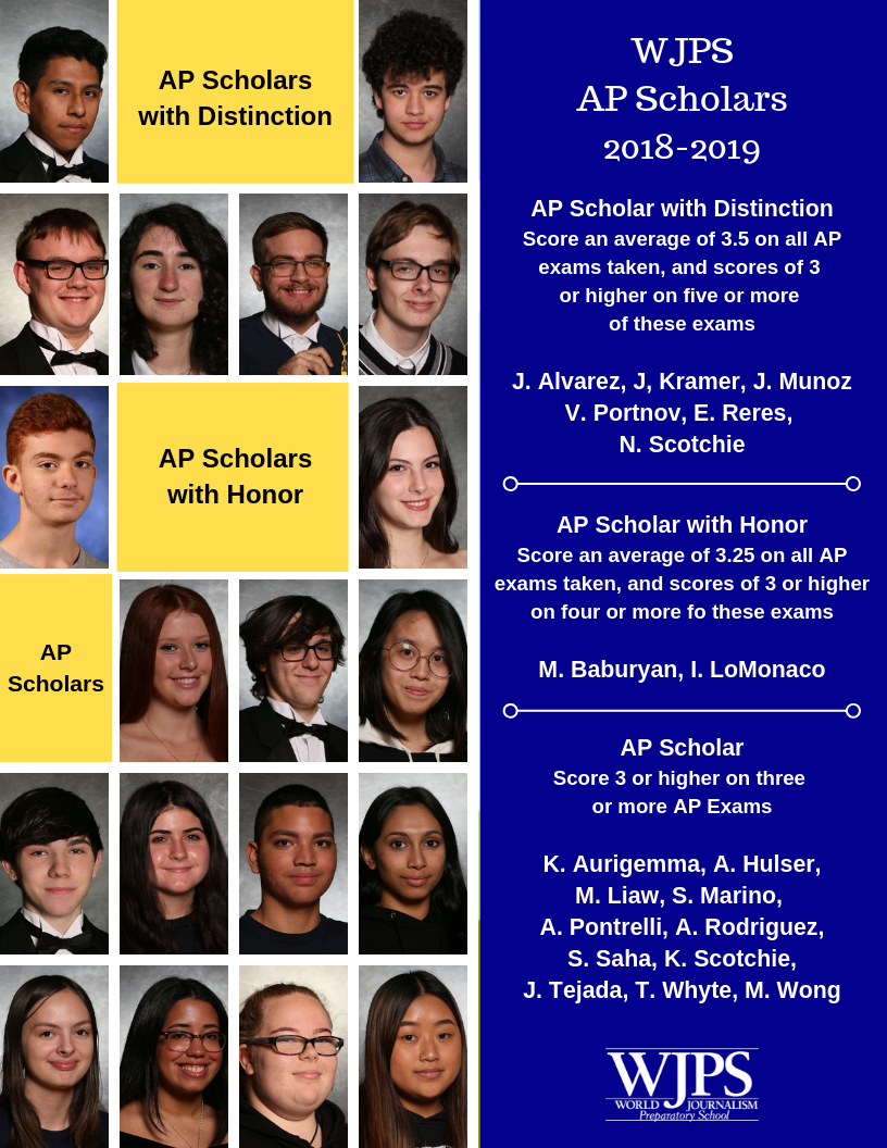 collage of students who received AP designation