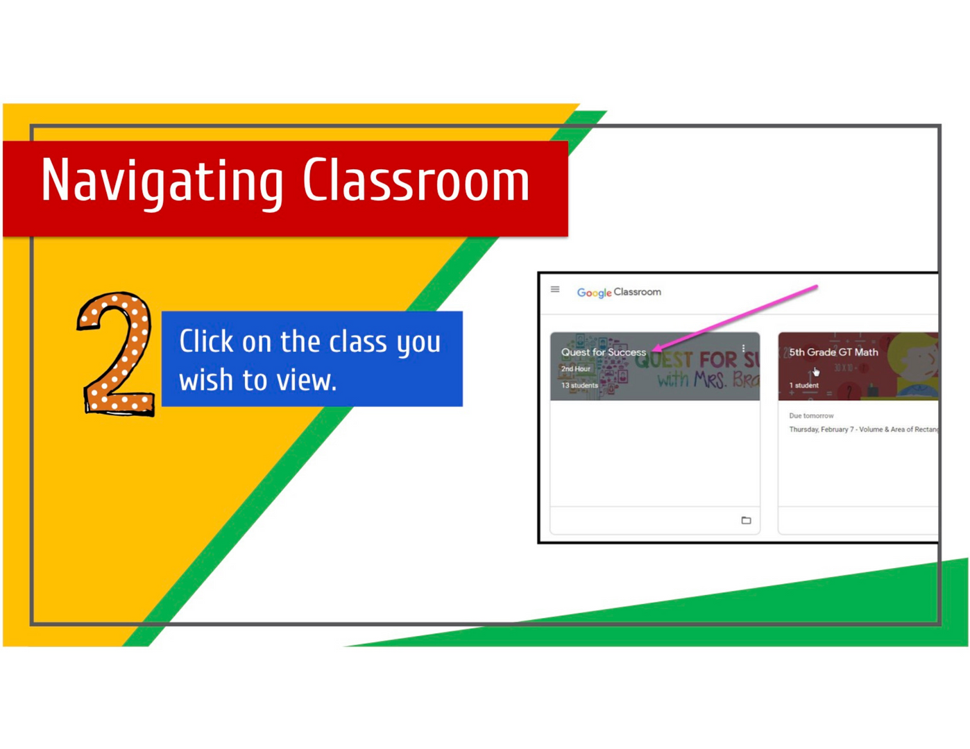 multi color slide number 2 click on classroom