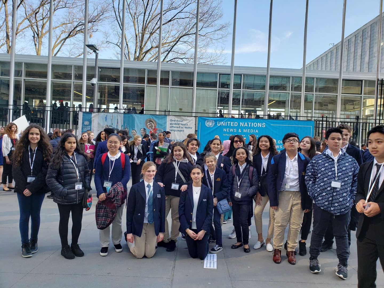 Model UN group photo