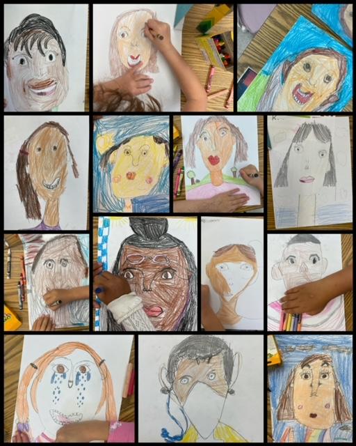 students self portraits