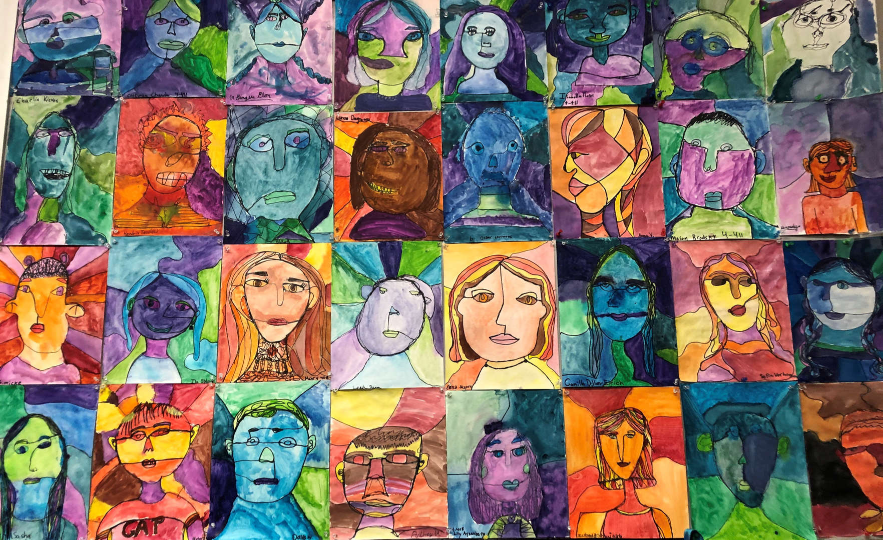 Fourth Grade Self- Portraits
