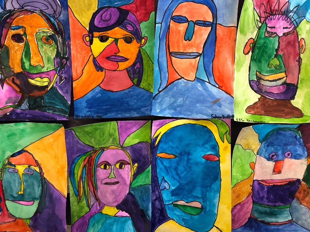 student self portraits
