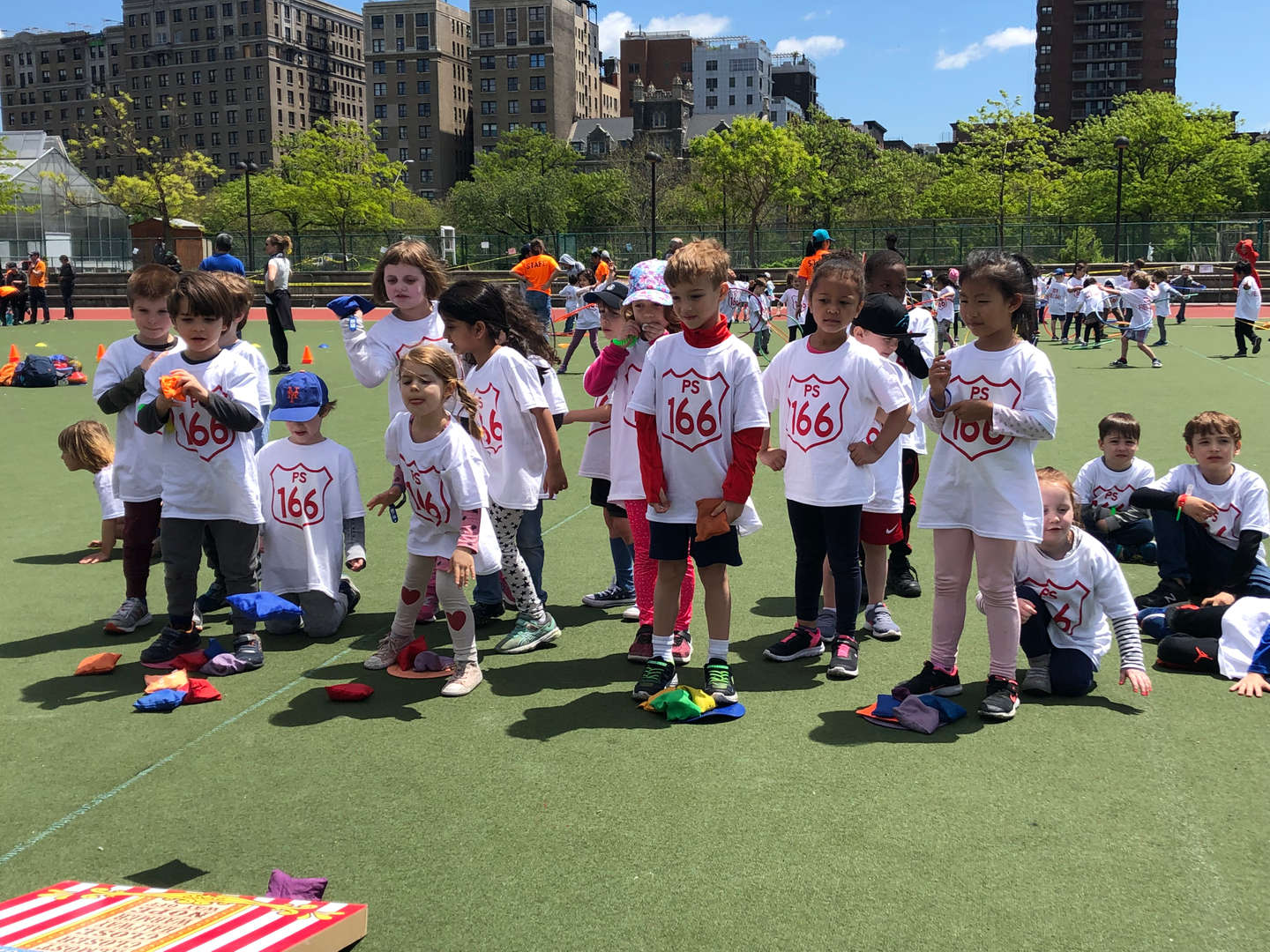 Students playing at Field Day 2019