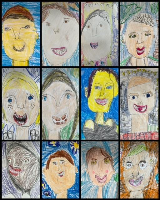 Student self-portraits