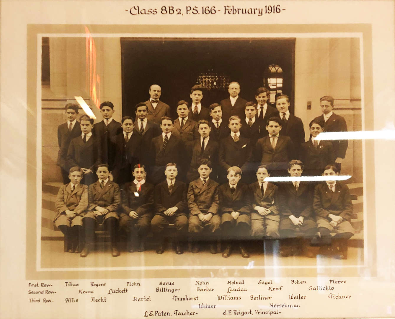 Class of 1916 Photo showing Richard Rodgers