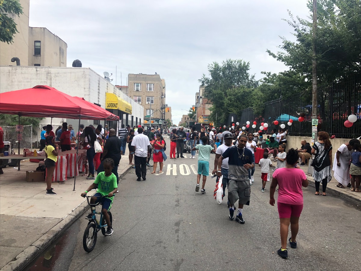 View of Street During Block Party