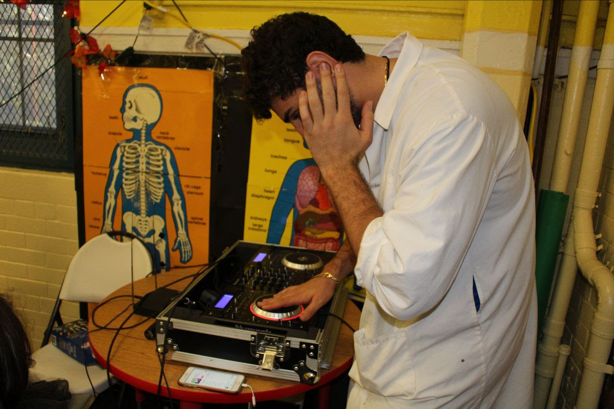 Teacher DJing