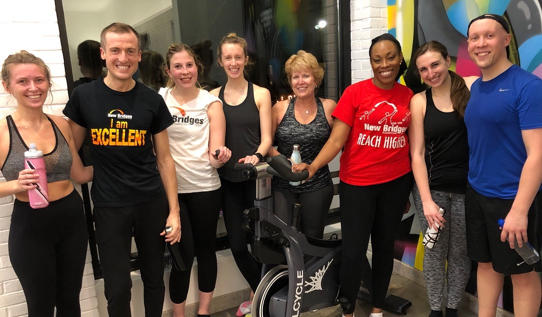 Group of Adults at Soul Cycle Event