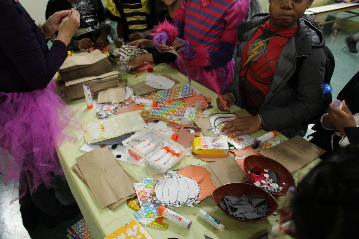 Students Doing Craft Activity