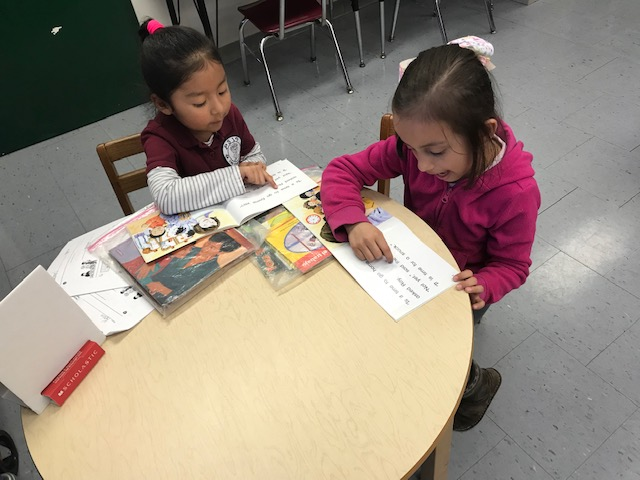 Students using reading strategies to read better