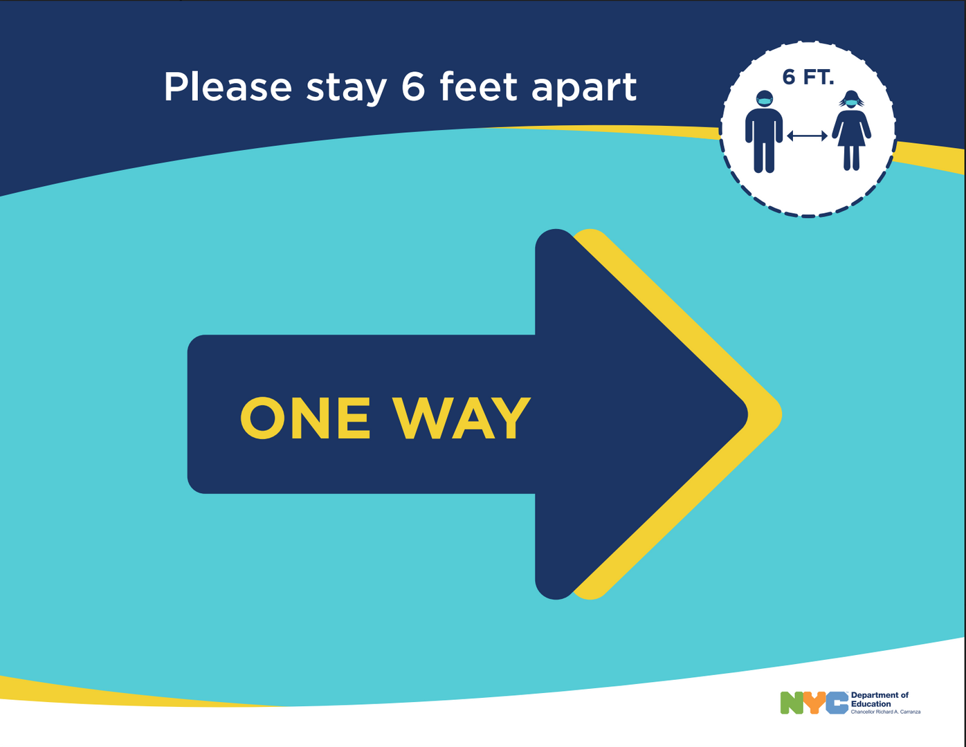 One-Way Hallway Signage