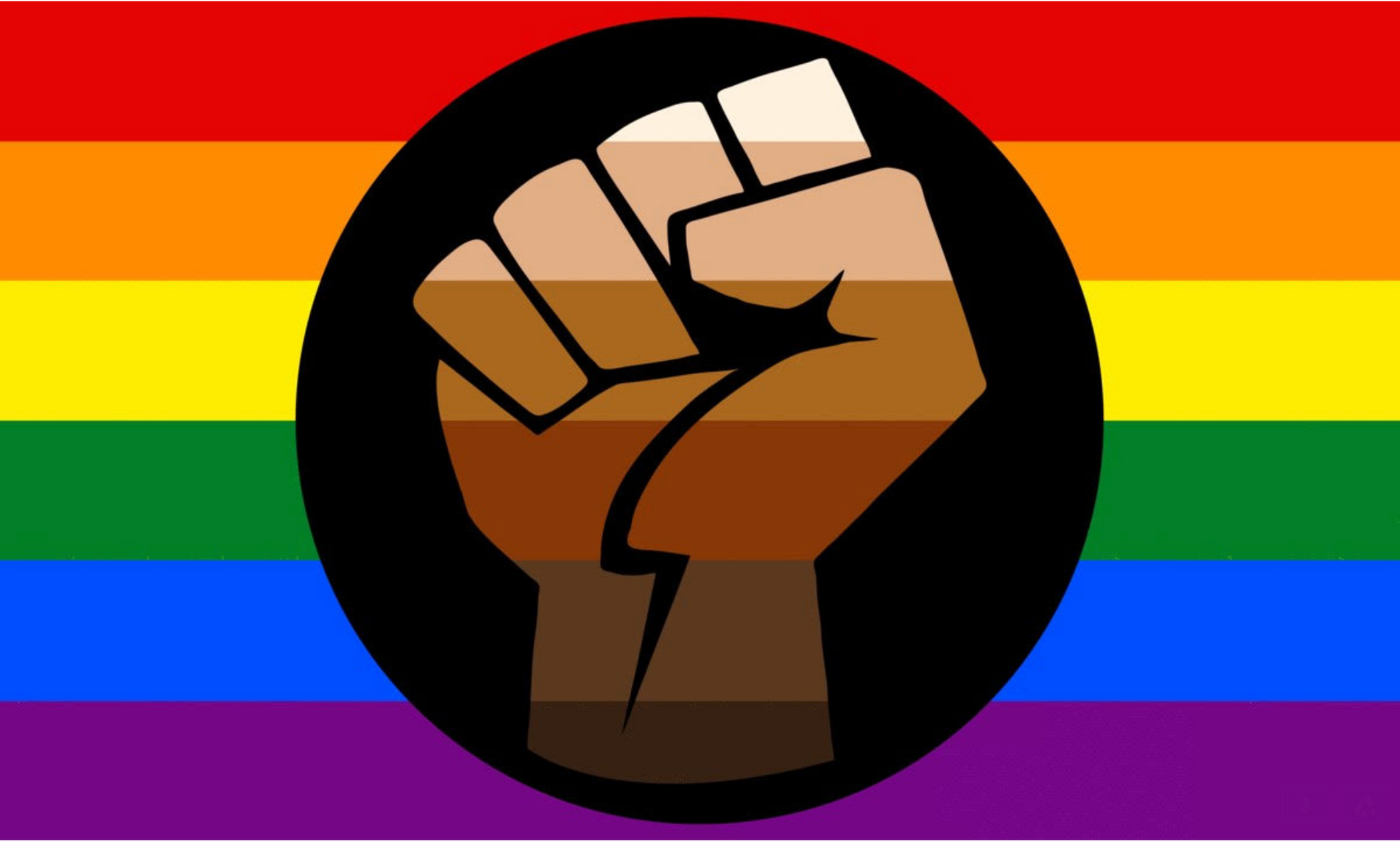 Pride Flag Supporting Black Lives Matter