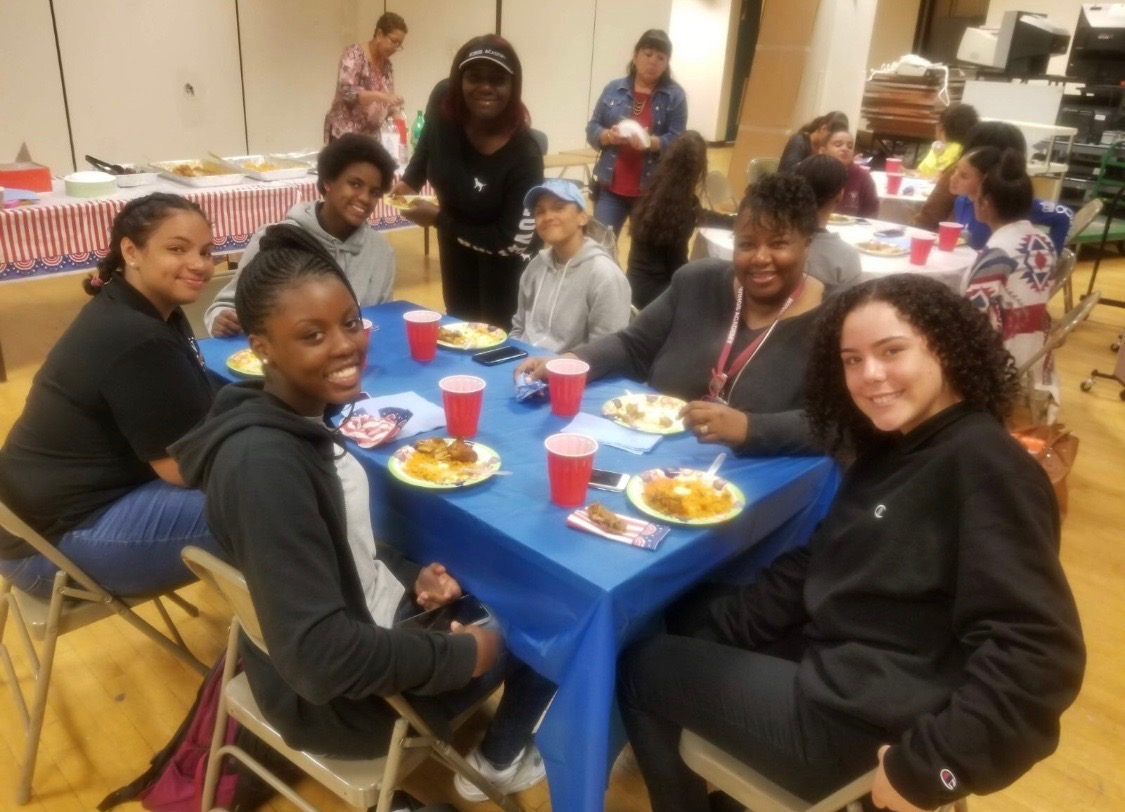 Softball Varsity Team end of the 2017-2018 season celebration dinner  with Principal Gray.