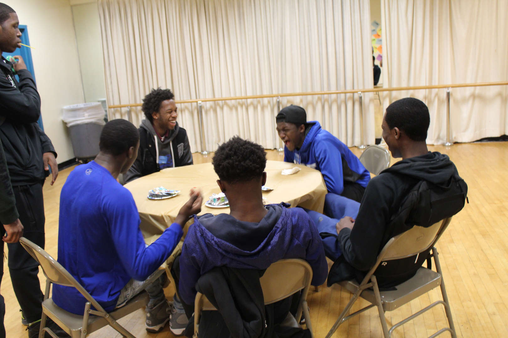 Basketball Team meeting