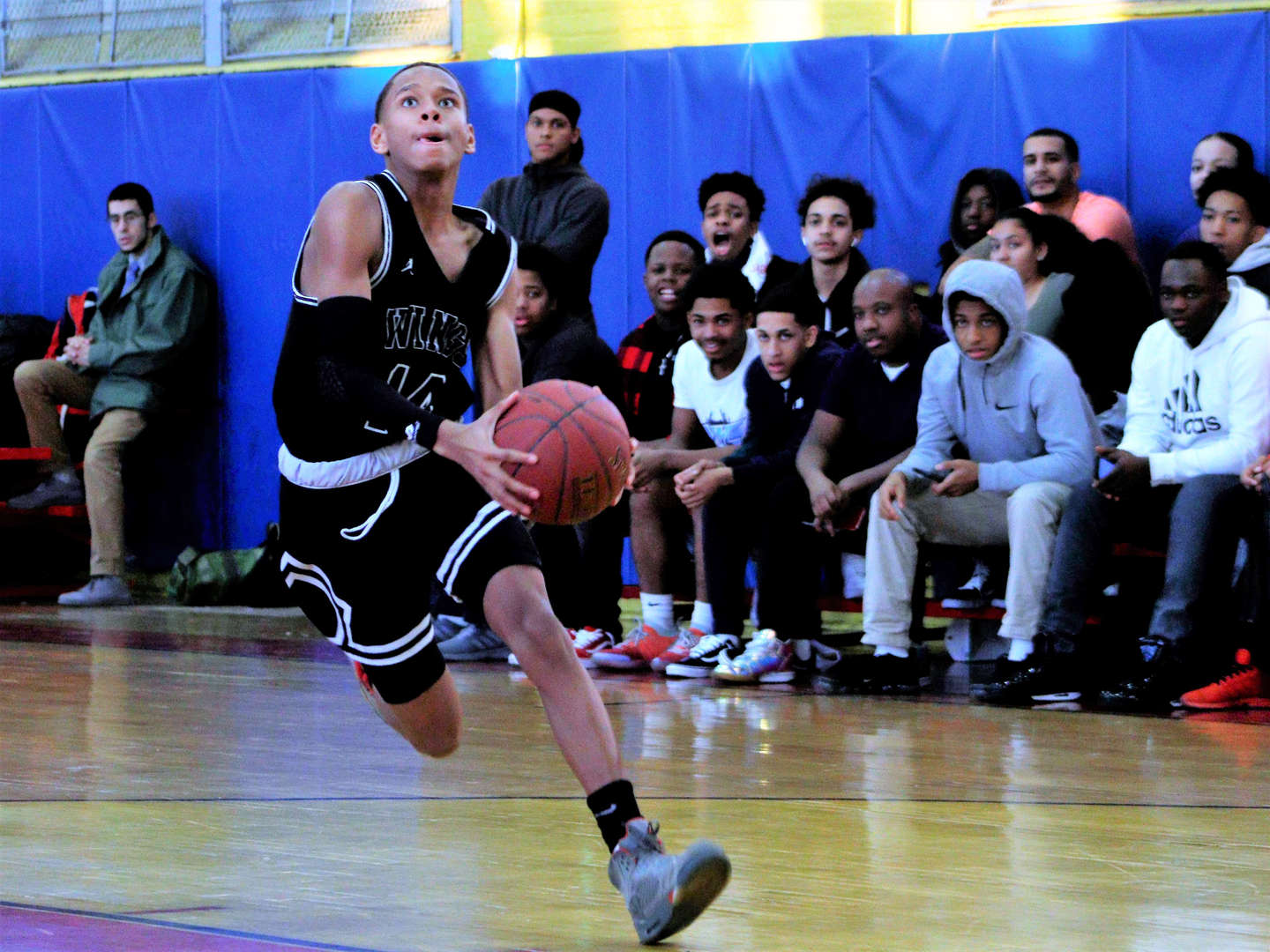 player running in the court