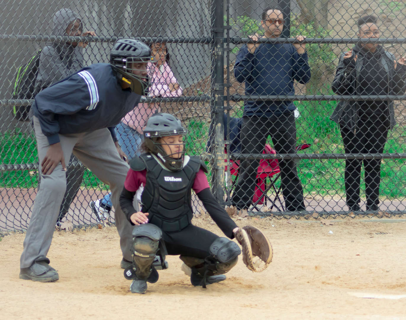 Girls Varsity Softball Catcher Dalizbeth Lopez during the 2018- 2019