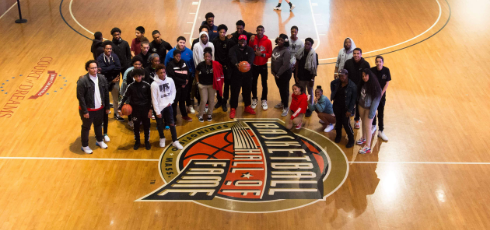Staff & students during the Basketball Hall of Fame field trip.