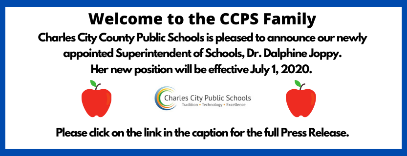 Welcome to our new Superintendent of Schools.