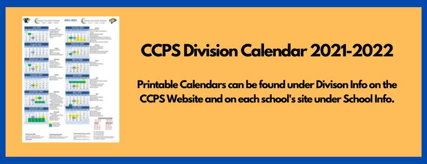 2021-22 Division Calendar