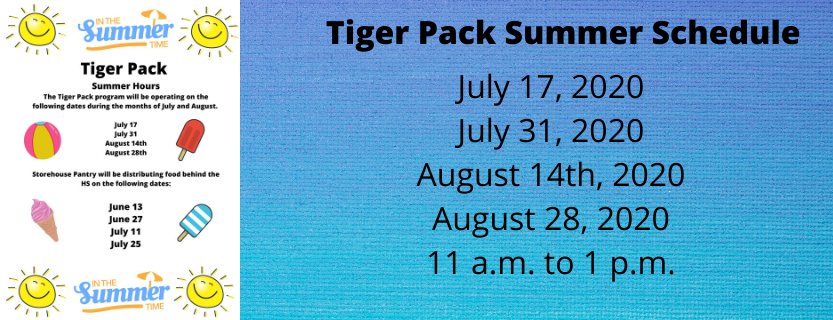 Tiger pack summer hours