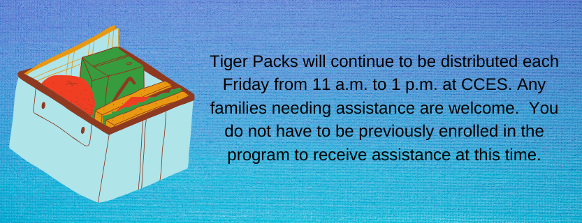 Tiger Packs will continue to be distributed each Friday.