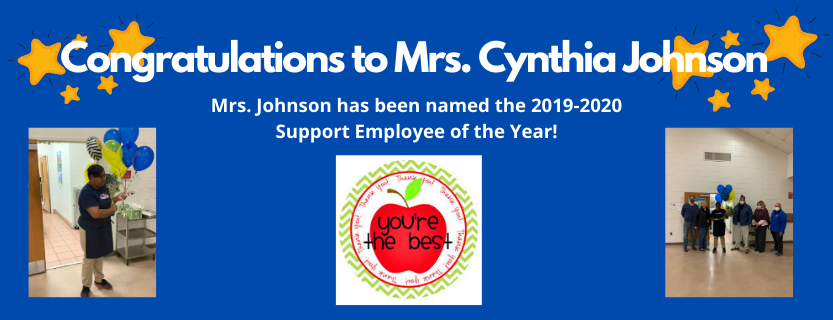 Cynthia Johnson, Support Employee of the Year
