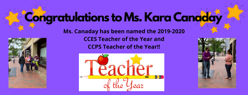 Kara Canaday, CCES and CCPS Teacher of the Year