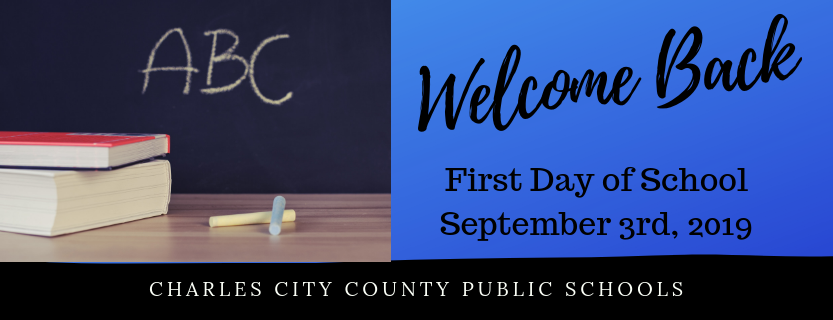 First Day of School is September 3, 2019.