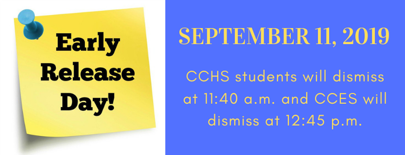 Early Dismissal on September 11, 2019.