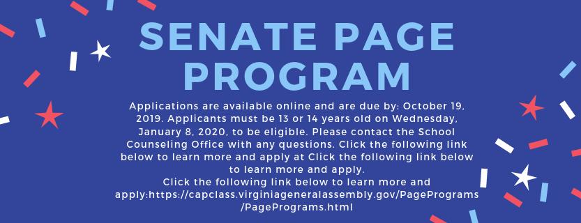 Senate Page Program