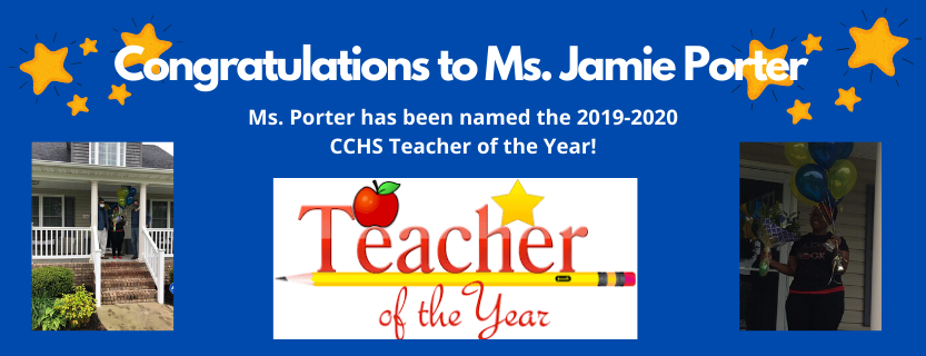 Jamie Porter, CCHS Teacher of the Year
