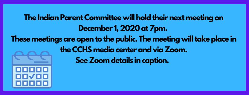 December Indian Committee Meeting
