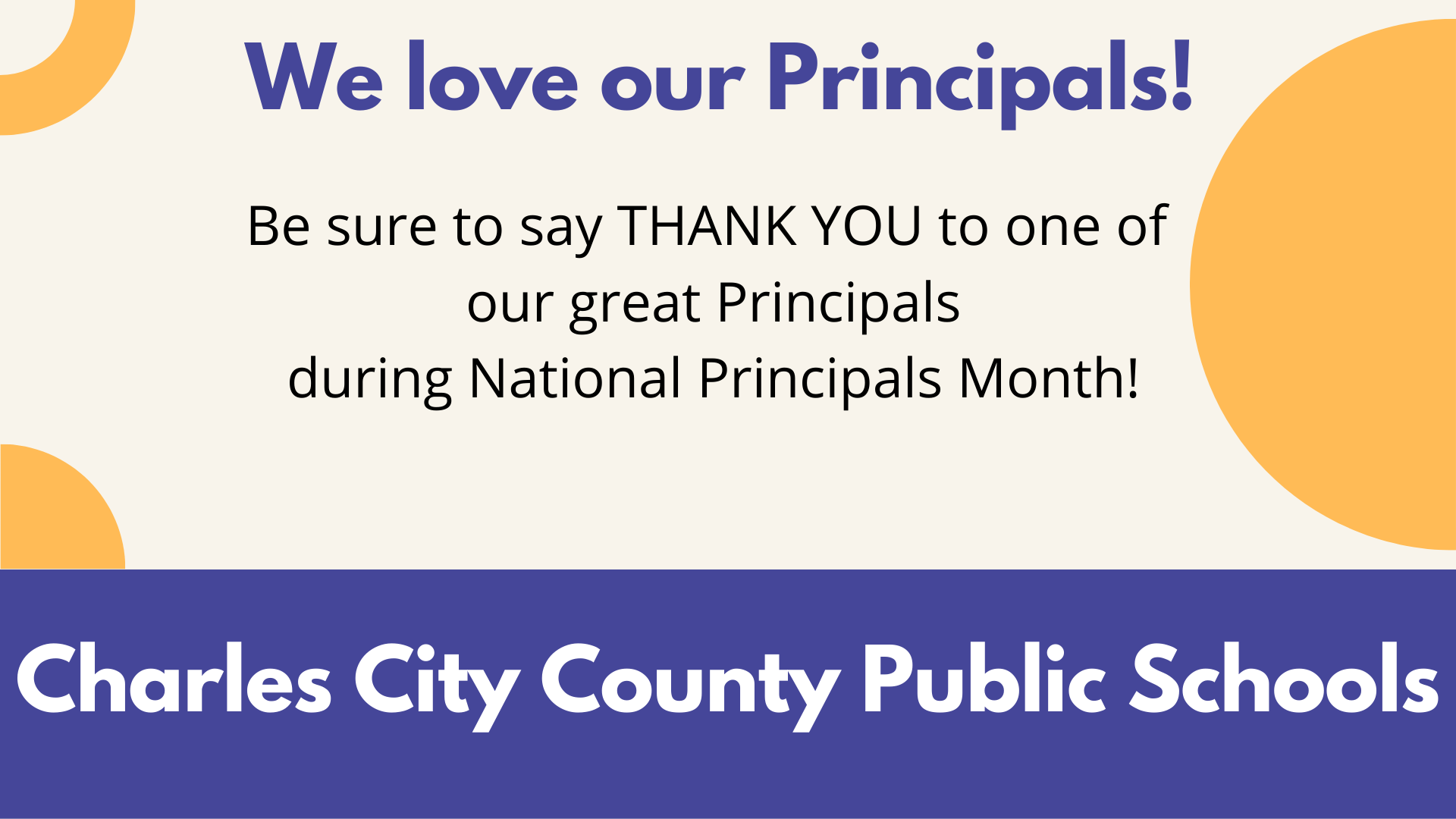 National Principals Month