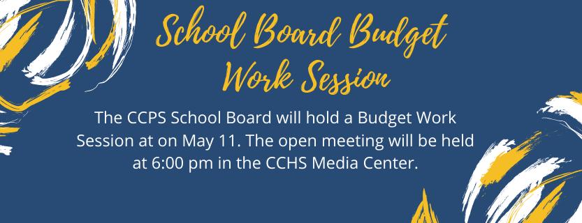 School Board Budget Work Session 5.11.21