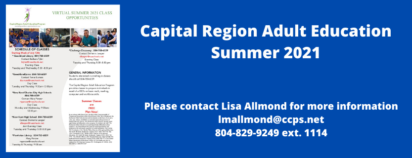 Captial Region Adult Classes