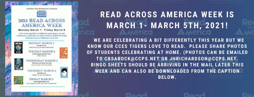 Read Across America Week March 1-March 5, 2021