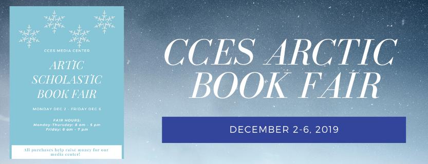 CCES Bookfair December 3-6, 2019
