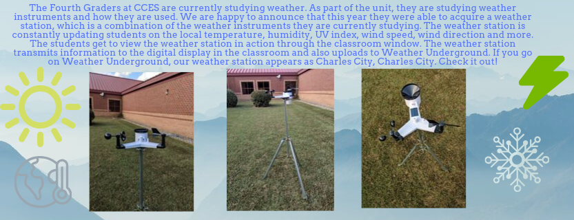 CCES 4th Grade Weather Station