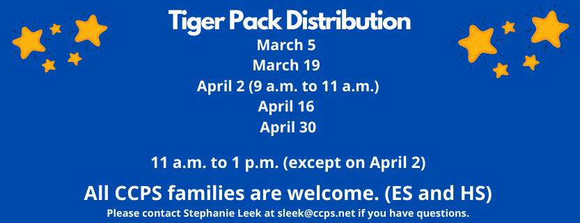 Tiger Pack Distribution March and April