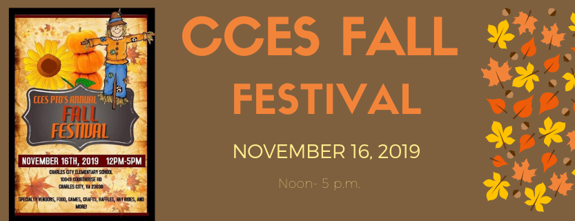 CCES Fall Festival November 16, 2019 Noon to 5 p.m.