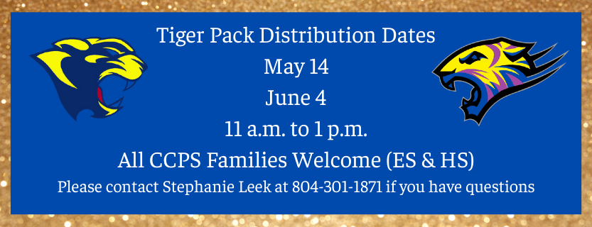 Tiger Pack Distribution May and June
