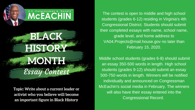 Essay Contest for Black history Month