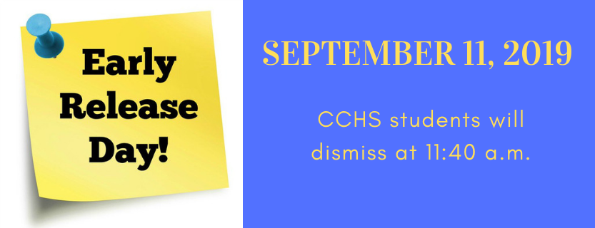 Early Dismissal Announcement for September 11 2019.