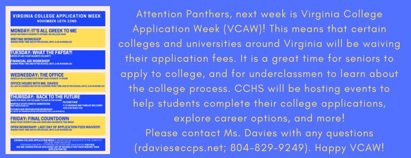 VCAW Week