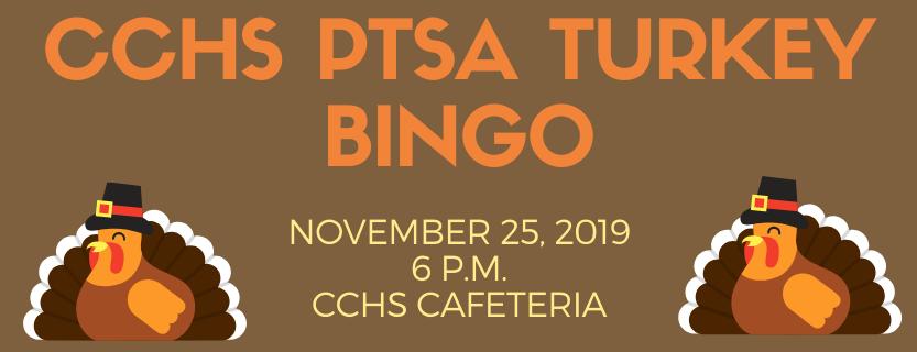 Turkey Bingo November 25 at 6 p.m.