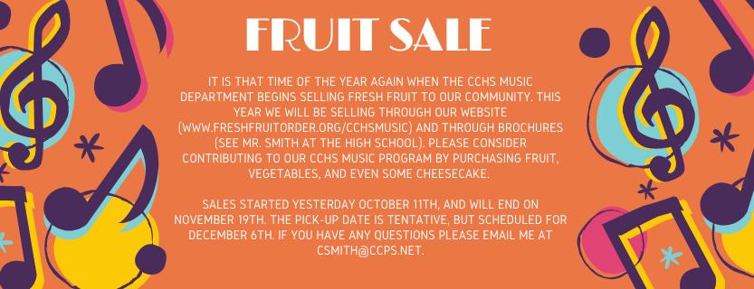 Band Fruit Sale