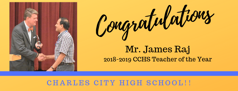 Teacher of the Year 2019-2020 James Raj