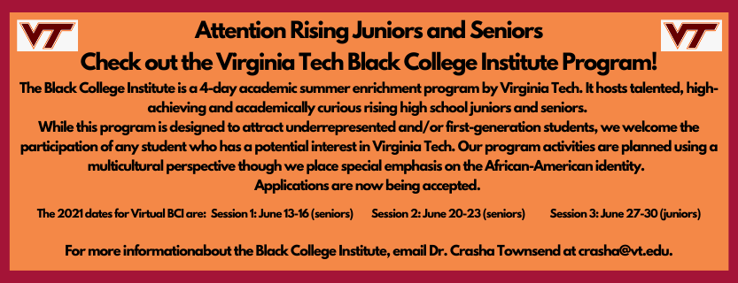 VT Black College Institute